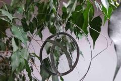 Spirale de jardin en verre
