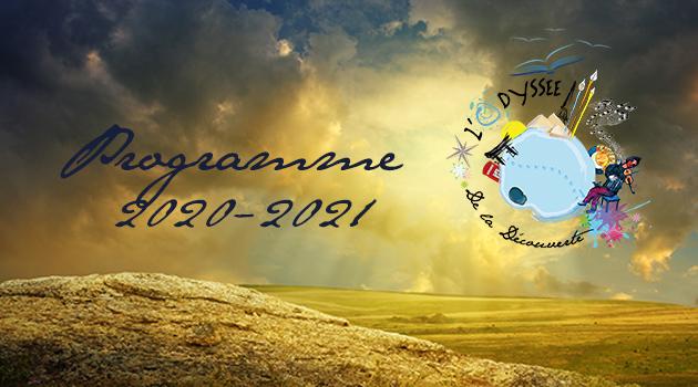 Le calendrier de l'Odyssée 2020-2021