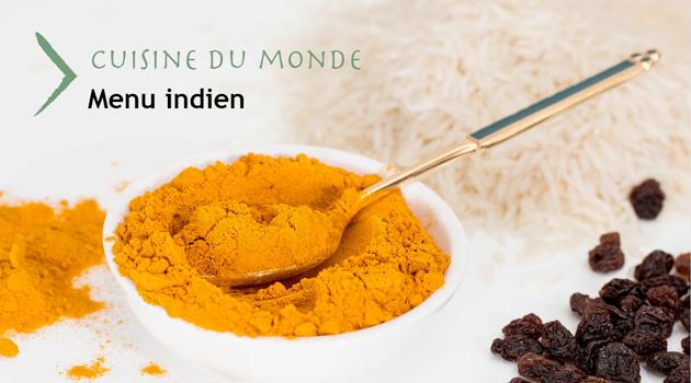 Cuisine du monde – menu indien